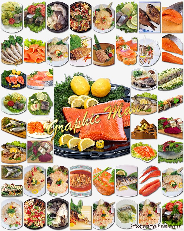 صور مفرغه اطباق اسماك عاليه الجوده لتصاميم يفط محلات الاسماك png