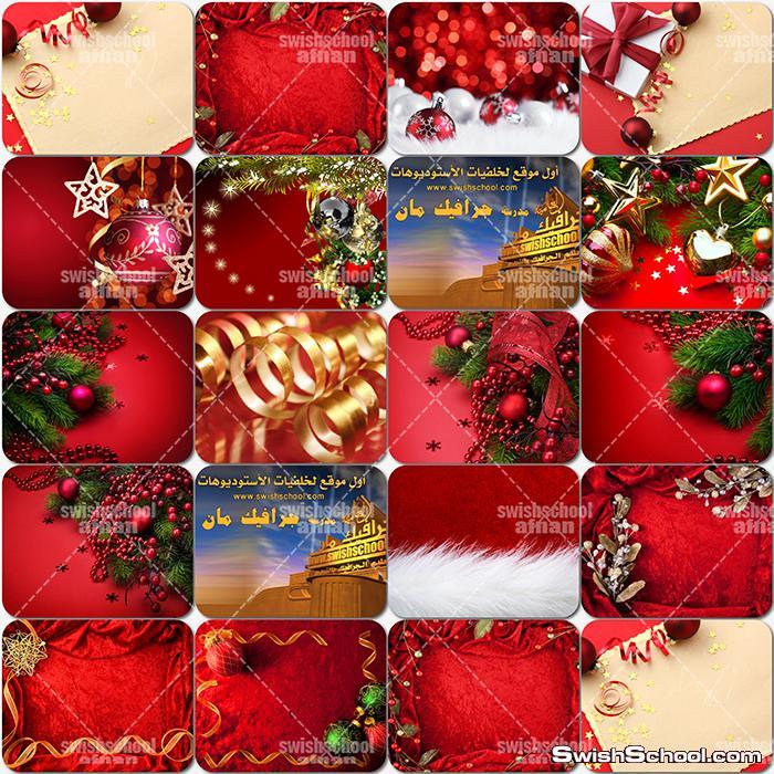 تحميل خلفيات فوتوشوب الكريسماس والعام الجديد باللون الاحمر عاليه الجوده jpg