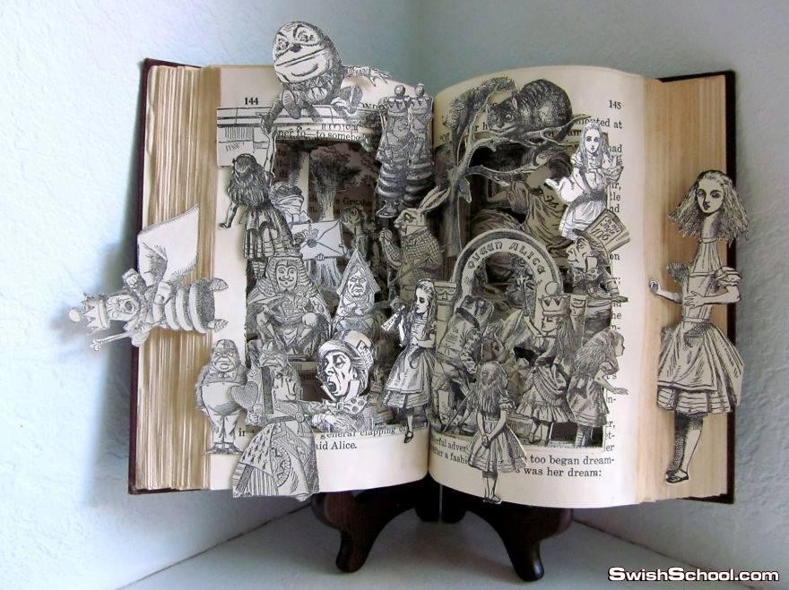 صور منحوتات كتب في غايه الابداع