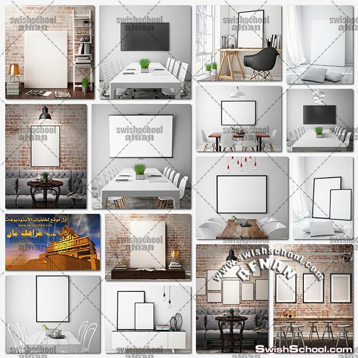 ستوك فوتو فريمات على الحائط عاليه الجوده لتصاميم الجرافيك jpg