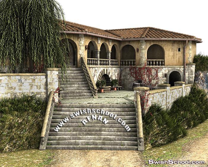 اجمل صورالقلاع والبيوت بدون خلفيه لتصاميم الدمج في الفوتوشوب png