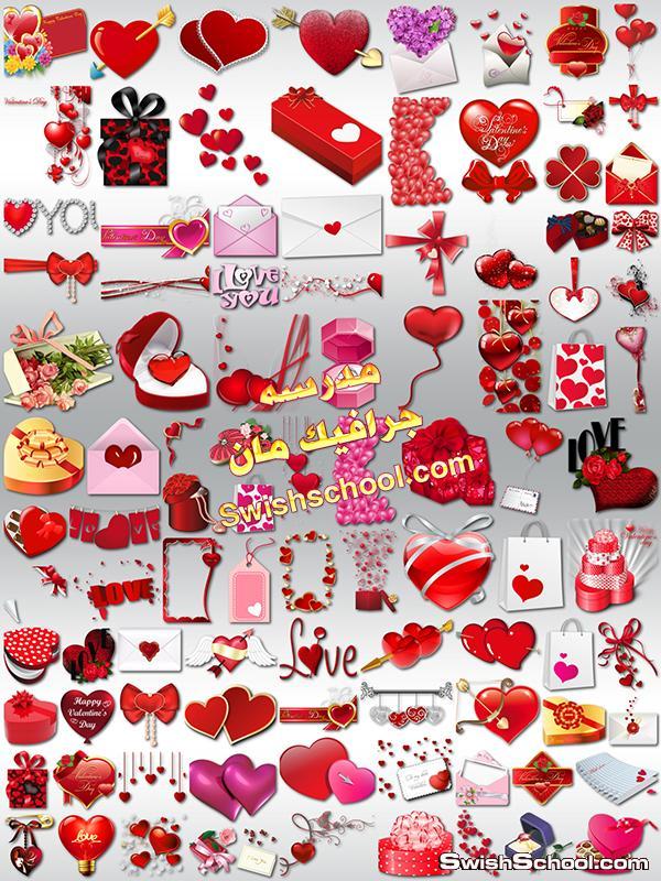 سكرابز قلوب رومانسيه اظرفة رسائل غراميه ورود