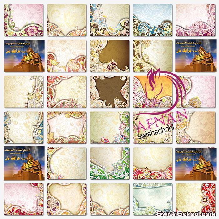 خلفيات فيكتور زخارف الزهور الرائعه للتصميم eps