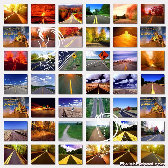 اجمل خلفيات الطريق السريع وقت غروب الشمس عاليه الدقه لتصاميم الدمج في الفوتوشوب jpg