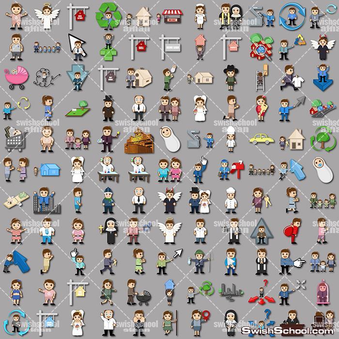 رجال اعمال كارتون في مختلف المجالات لمصممين الدعايه والاعلان - 2000 شخصيه في ملف واحد png ,eps ,ai