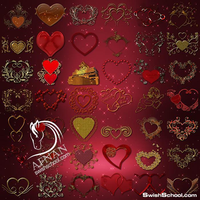 صور مقصوصه اكسسورات قلوب كيوت رومانسيه بدون خلفيه جاهزه لاضافتها على تصاميم الفوتوشوب png