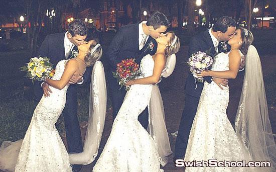 صور3 برازيليات توائم يقررن الزواج في يوم واحد