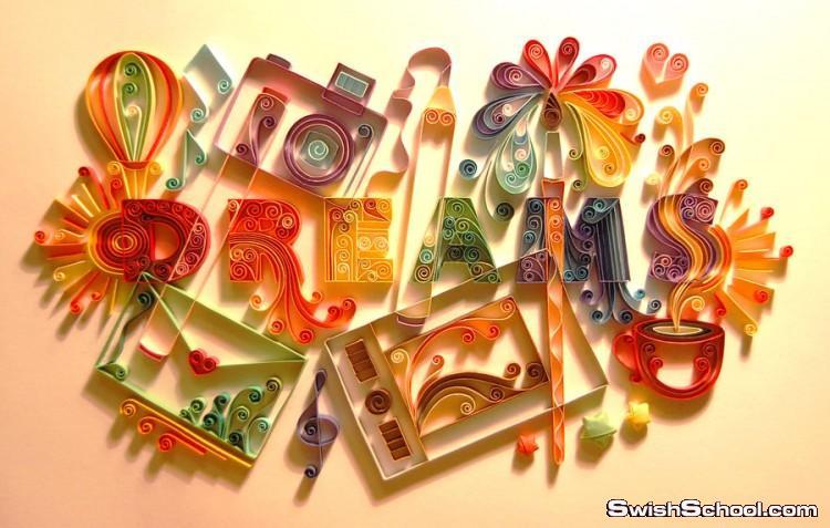 الرسم بقصاصات الورق الملوّن , فن طي قصاصات الورق بالصور