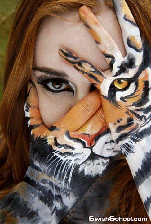 فنون وابداع الرسم على كفوف اليد قمه الابداع