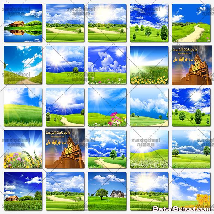 اجمل خلفيات الطبيعه , اروع خلفيات الحقول والمراعي الخضراء عاليه الدقه لتصاميم الفوتوشوب jpg