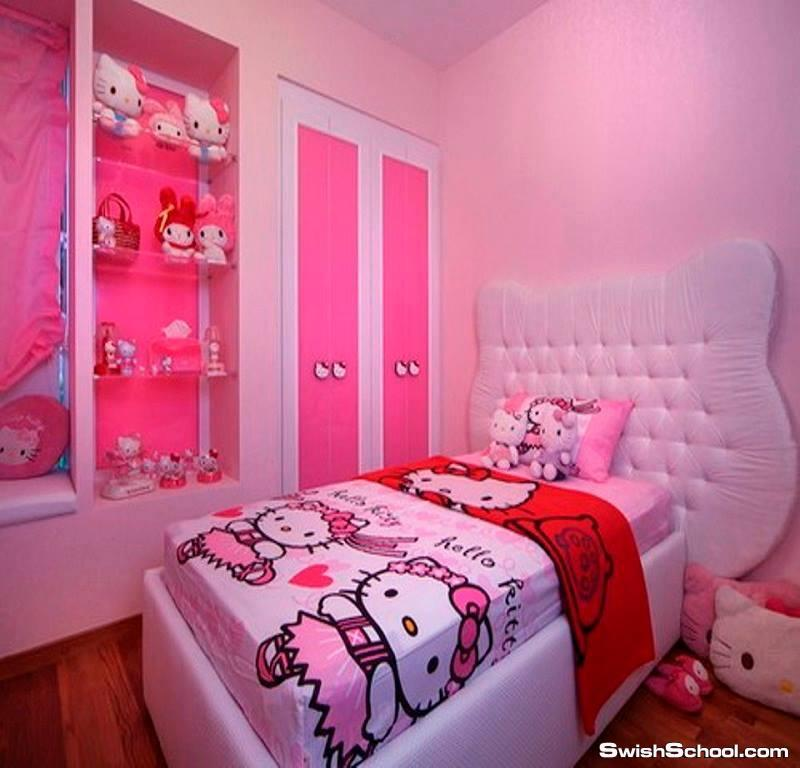 غرف نوم اطفال باللون الروز , ديكورات حجرات نوم الاطفال باللون الوردي