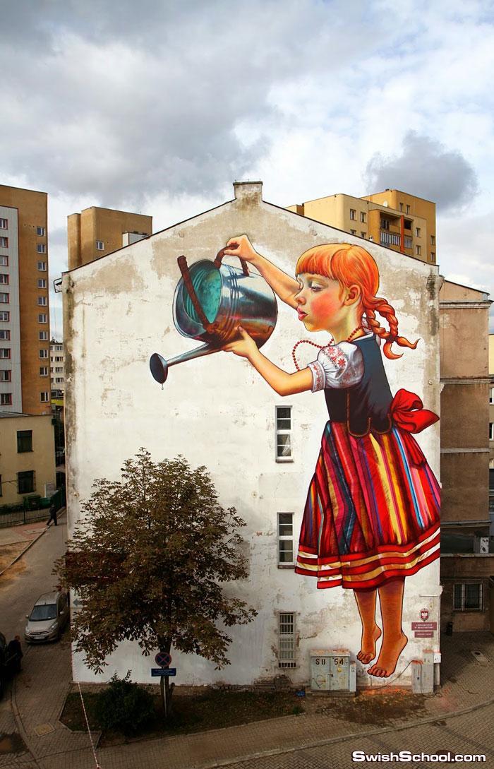 رسم جرافيتي , لوحات جرافيك فنيه