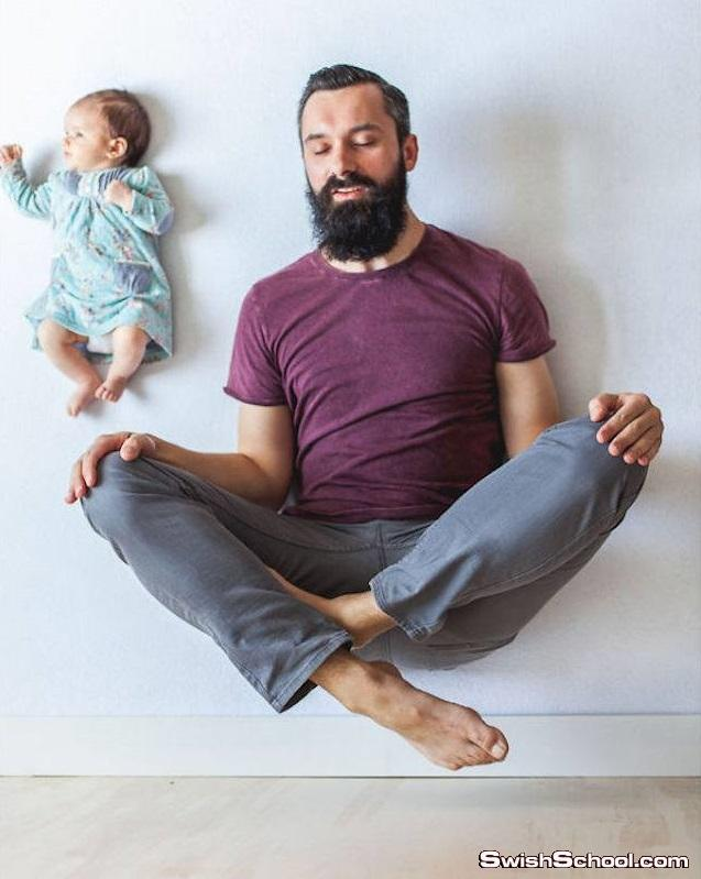 تصوير فوتوغرافي احترافي الاب مع المولود الجديد انا وبابا ^_^