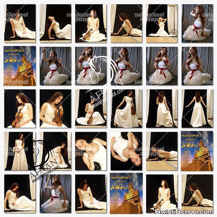 خلفيات جرافيك بنات بوضعيات مختلفه لتصاميم الفوتوشوب  - صور بنات بفستان ابيض للمصممين jpg - الجزء الرابع