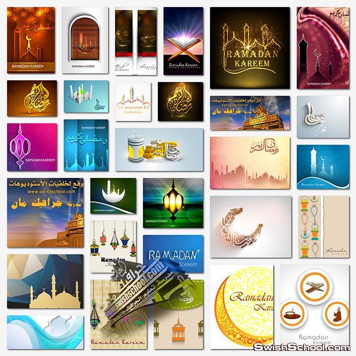 تحميل فيكتور رمضان كريم eps - خلفيات جرافيك جديده لتصاميم شهر رمضان - الجزء السادس