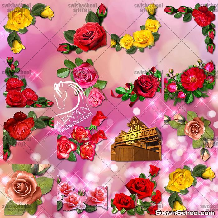صور مقصوصه ركنات من الورد لتزين التصاميم عاليه الجوده png