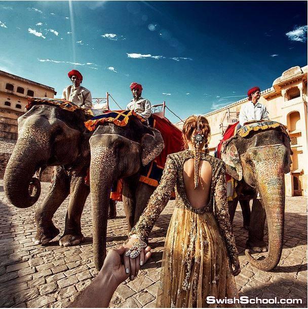 مصور فوتوغرافي ياخذ خطيبته في رحله حول العالم في تصوير احترافي