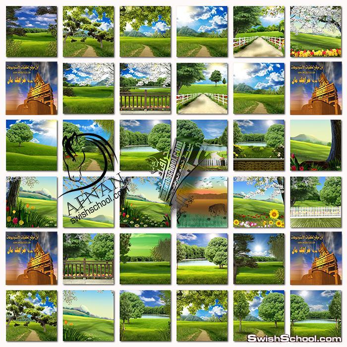 خلفيات جرافيك الربيع عاليه الجوده لتصاميم الاطفال في الاستديوهات jpg