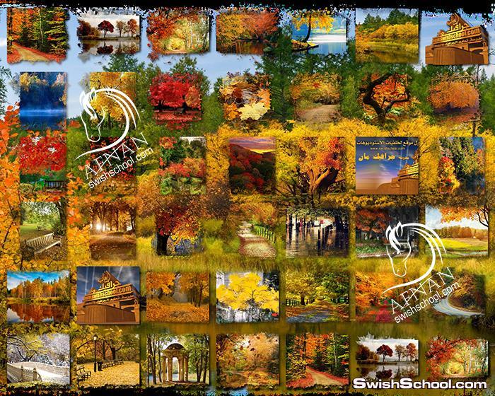 سكرابز لوحات الخريف الساحره بدون خلفيه png - مرفقات تصميم فوتوشوب