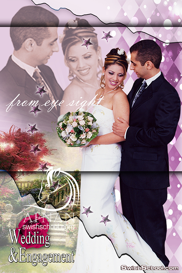 خلفيه من نظره عين مفتوحه المصدر لتصاميم الاستديوهات و الزفاف والافراح psd تصميم افنان