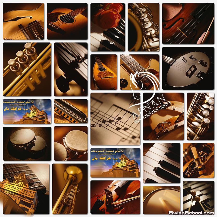 ستوك فوتو الات موسيقى عاليه الجوده لتصاميم الفوتوشوب jpg