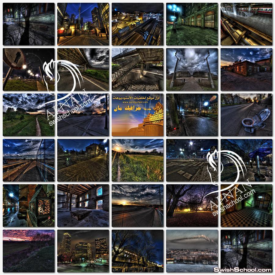 خلفيات جرافيك مدن ليليه بتاثيرات خياليه hdr - خلفيات فوتوشوب للتصاميم الشبابيه