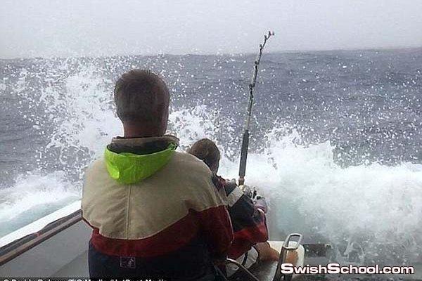 اكبر سمكه تونه في العالم تصطادها امراه بالصور