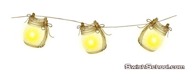 صور فوانيس ومصابيح اضاءه بدون خلفيه لتصاميم رمضان png