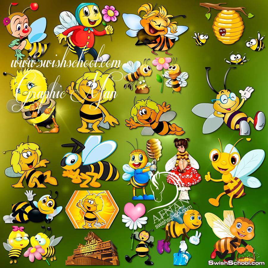 سكرابز النحله زينه ونحول كارتون لتصاميم الاطفال png