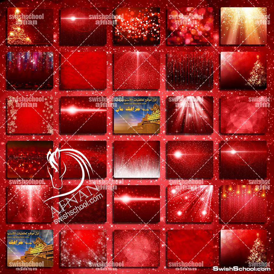 تحميل خلفيات العام الجديد باللون الاحمر - خلفيات لامعه براقه حمراء لتصاميم كروت السنه الجديده jpg