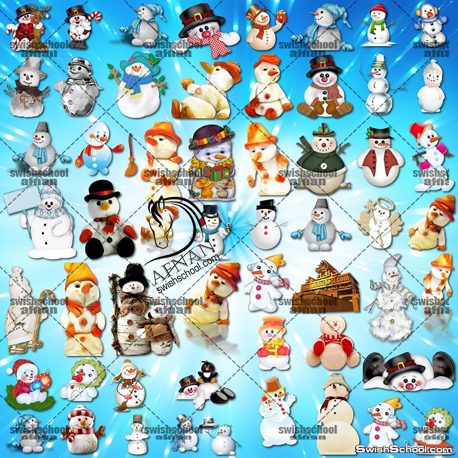 صور مقصوصه رجل الثلج الابيض لتصاميم الفوتوشوب والشتاء png