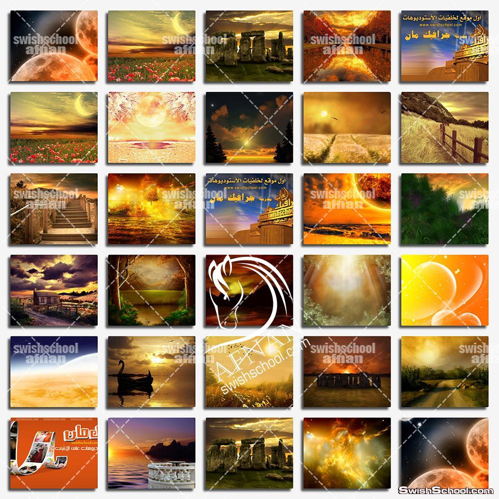 خلفيات استديو الطبيعه الذهبيه jpg - فانتازيا السحر والخيال والجمال  ( الجزء الثالث )