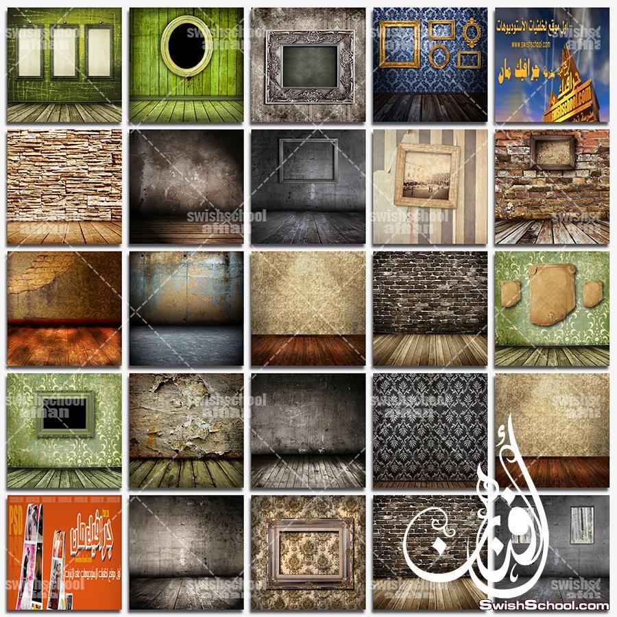 خلفيات خشبيه مع ارضيات غامقه لتصاميم الفوتوشوب jpg