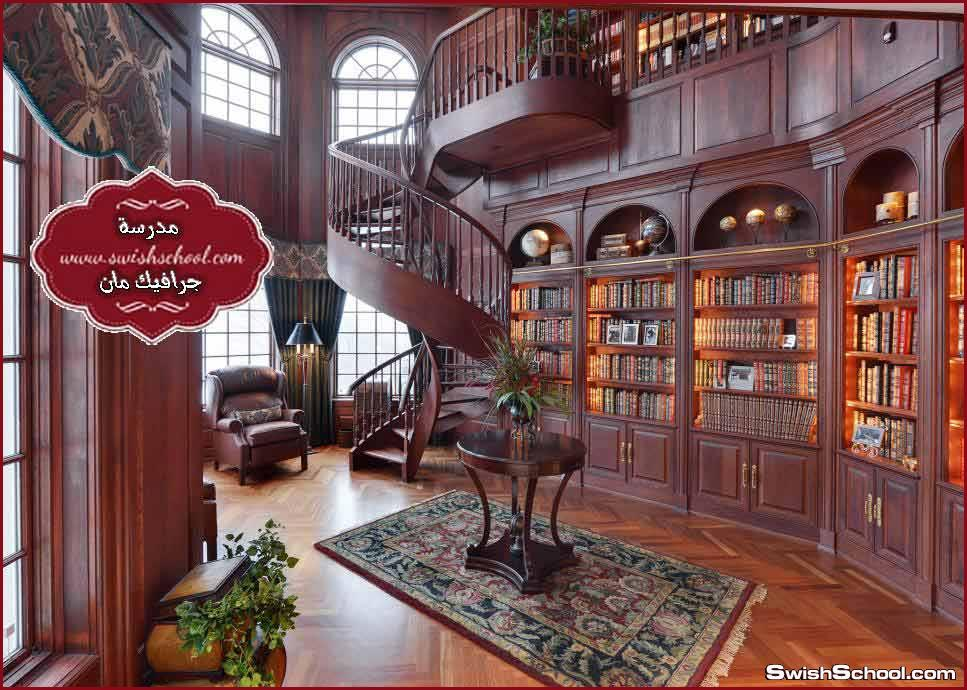 مكتبة ,المنزل, وأفكار متجددة,غرفة, القراءة, بمكتبات ,رائعة الأفكار,أهمية ,تنظيم ,مكتبة ,المنزل بأفكار مدهشة,20