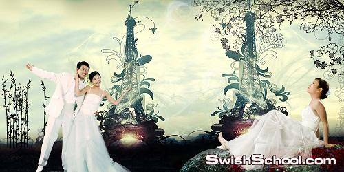 البوم صور زفاف - البوم خلفيات افراح psd 2013
