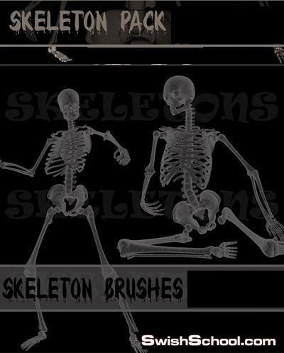 فرش هيكل عظمي لتصاميم الافلام الرعب Skeleton Brushes