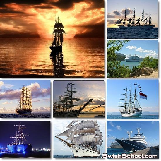 خلفيات سفن ومراكب شراعيه عاليه الجوده للتصميم