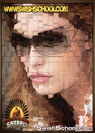 اكشنات لانشطار الصوره  على شكل مربعات