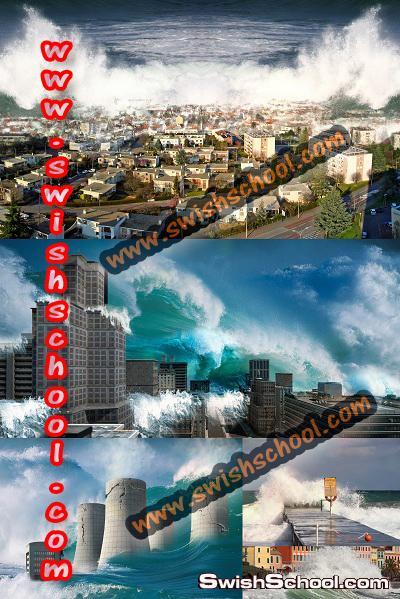 خلفيات للطبيعه الرائعه لتصاميم الفوتوشوب 2013 - خلفيات امواج متلاطمه - بحار - شتاء - مراكب