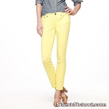 فساتين و أزياء باللون الاصفر 2012