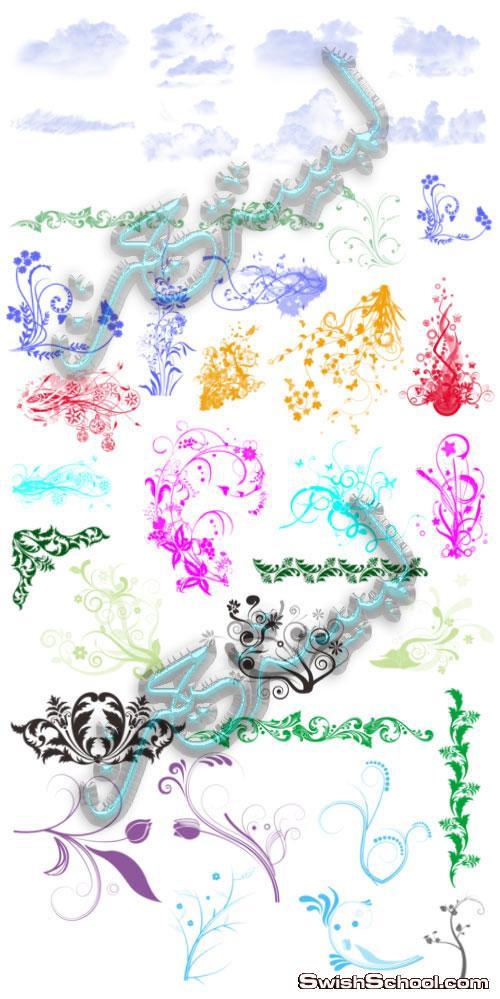 فرش فوتوشوب - الغيوم، فرش ورد - فرش زهور - فرش زخارف
