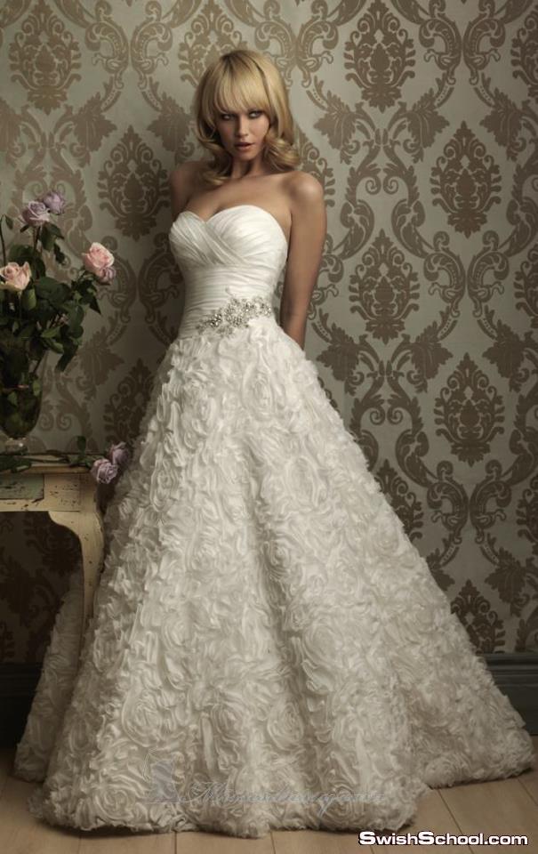 أحدث فساتين زفاف 2012