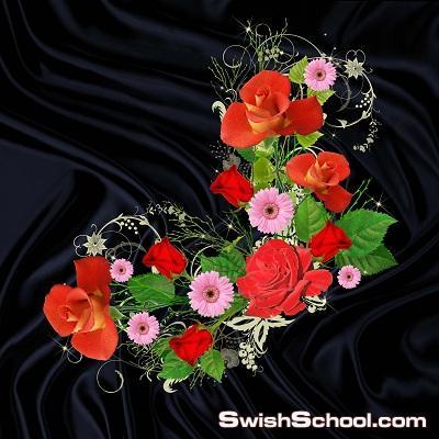 صور مقصوصه لزهور مع قلوب كورنر psd لتزين التصاميم - خلفيات جرافيك 2013