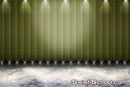 9 خلفيات مسارح ملونه مع اضاءات للاستديو