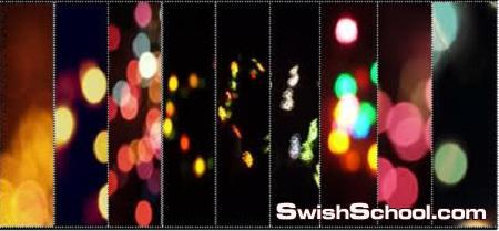 مجموعه كبيره من الخامات الضوئيه للتصميم  light textures