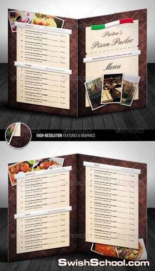 منيو مطعم على شكل البوم + اعلام دول العالم