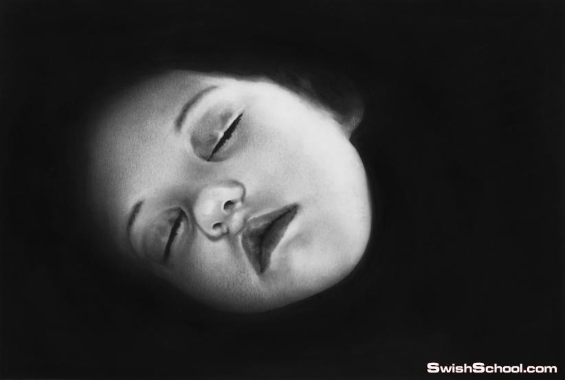 لوحات ورسومات فينه بالفحم والجرافيت للفنان لونغو روبرت