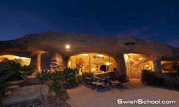بيت غريب محفور داخل صخرة وثمنه 3.5 مليون دولار
