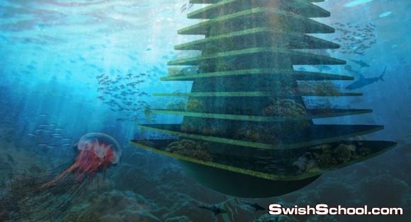 أشجار البحر - مدرجات للزراعه داخل البحر