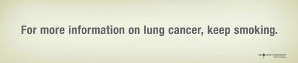 إعلانات مبتكرة لمكافحة التدخين